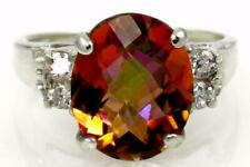 925 Sterling Silver Ladies Ring, Twilight Fire Topaz, SR123