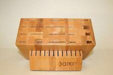 New listing Cutco Ultimate Set Knife Block (Block Only) 32 Slot Oak