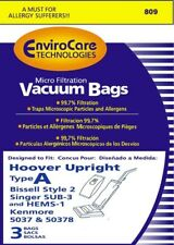 3PK, Hoover Type A Upright Microlined Paper Bags Part 809