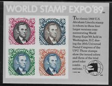US Scott #2433, Souvenir Sheet 1989 World Stamp Expo VF MNH