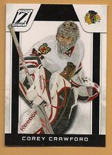 (1) CHICAGO HAWKS COREY CRAWFORD  2010-11 ZENITH # 107 GOALIE MINT  CARD (H0004)