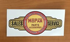 Mopar Chrysler  Sticker Carburettor, edelbrock tool box,mancave,beer fridge car