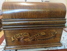 RARE EDISON 1903 HOME 2 MINUTE CYLINDER PHONOGRAPH + HORN - FANTASTIC CONDITION
