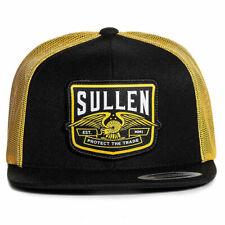 Sullen Men's Orange County Trucker Snapback Hat Black/Orange Headwear Apparel Ba