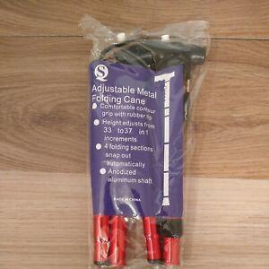 Adjustable Aluminum Metal Cane Walking Stick Folding Column Outdoor Walker Tools