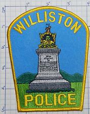 """VERMONT, WILLISTON POLICE DEPT 5"""" PATCH"""
