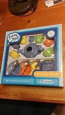Kool Toyz Modern Color Porcelain Tea Set Party 16 piece dishwasher safe Fun ware