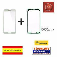 Cristal exterior pantalla frontal adhesivo Samsung Galaxy S5 G900 color blanco