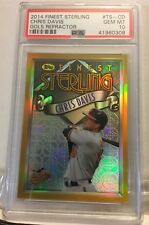 2014 Topps Finest Sterling Chris Davis Gold Refractor /25 Psa 10 Gem Mint Oriole
