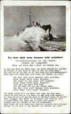 "Musik Lied Motiv-AK ~1940 ""Das kann doch einen Seemann nicht erschüttern"" Franke"