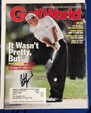Peter Lonard Autographed Magazine Signed PGA Golf Autographed