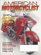 AMA Magazine July 2002 Arlen Ness The King of the Customizers-Age of Steam RARE!