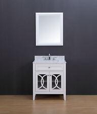 Bathroom Vanity - Rocca Transitional Bathroom Vanity Set with Carrera Marble Top