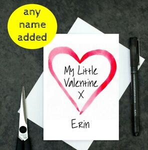 personalised Valentine's card for kids - Valentine's Day card for daughter - son