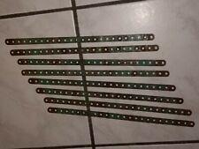 (92) Märklin Metallbaukasten-Ersatzteile, 8x Flachband 25 Loch, 32 cm, Art. Nr.1