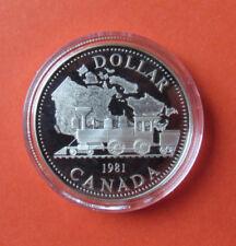 1981 Transkanadische Eisenbahn SILVER DOLLAR Kanada Silbermünze