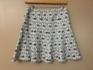j mclaughlin white black stretchy floral skirt summer sz. s