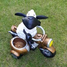 Deko Figur Schaf Molly auf Motorrad Tierfigur zum Bepflanzen Garten Lamm #1724