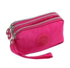 Phone Wristlet Bag 3 Zipped Pouch for iPhone Xs, X, 8, 7, SE by Tainada (Pink)