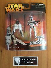 Star Wars - ROTS - CLONE TROOPER w. Firing Jet Backpack - Hasbro - MOC - 2005