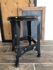 Vintage Industrial Metal Milking Stool Gas Garage Stand Plant Stand Mid Century