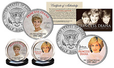 PRINCESS DIANA 1997-2017 20th ANNIVERSARY JFK U.S. Half Dollar 2-Coin Set Crown