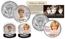 PRINCESS DIANA 1997-2017 20th ANNIVERSARY JFK U.S. Half Dollar 2-Coin Set Crown