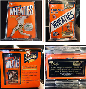 Wheaties 75 Years of Champions 24K Gold Signature 3 Mini Boxes Gherig Robinson