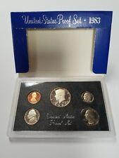 00210 PS0583BMC US MINT PROOF 5 COIN SET 1983 BASE METAL CAMEO FRESH OGP SHIP FR