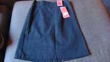 "M&S SkinKind 100%Cotton Adj.Waist School Skirt 9-10yrs W24.5"" 140cm Black BNWT"