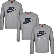 Nike Mens Tracksuit Fleece Crew Neck Top Air AW77 Sweatshirt Cotton Size Grey