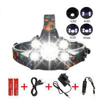 50000LM XML 5X T6 Led Headlamp Headlight Head Torch 18650 Head Flashlight Lamp