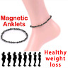 Fashion Weight Loss Anklet Magnet Bracelet for Foot Hematite Elastic Pain Relief