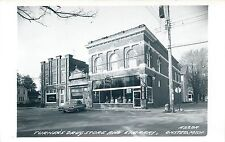 ONSTED, MICHIGAN - TURNER'S DRUG STORE & LIBRARY - OLD REAL PHOTO POSTCARD VIEW
