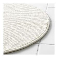 IKEA BADAREN Anti-Slip Microfibre Round Bath Mat Bathmat Bathroom Rug 55cm White