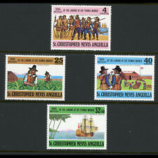 ST KITTS NEVIS 1973 350th Anniversary. SG 258-261. Mint Never Hinged. (AB852)