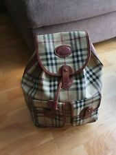 Authentic Vintage '90s Burberry Large backpack Drawstring Beige Checked handbag