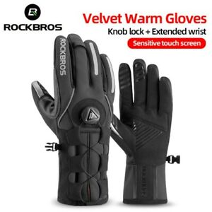 Adjusatble Cycling Gloves Reflective Screen Touch Warm MTB Bike Gloves Outdoor