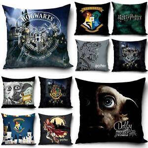Kissenbezüge Kissenhülle 40x40 cm Harry Potter Hogwarts Dobby Schwartz Blau Grün