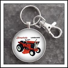 Vintage Simplicity Landlord Tractor Ad Photo Keychain Father's Day Gift 🎁