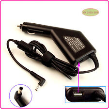 Laptop Car DC Adapter Charger & USB For ASUS ZenBook UX32VD-DB71 UX32A-DB31