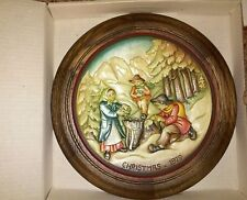 Anri 1979 Christmas Plate'The Moss Gatherers of Villnoes' 9th in series.Orig Bx