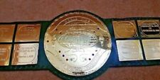 BIG GREEN World Wide Wrestling Heavyweight Champion Title Belt.(4mm Plates)