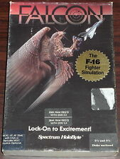 """PC. Falcon. The F-16 Fighter Simulation. Spectrum Holobyte. 5.25"""" Floppy Disk"""