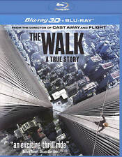 The Walk (Blu-ray Disc, 2016, 2-Disc Set, Includes Digital Copy 3D) - NEW!!