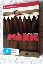 MONK-SEASON FOUR DVD, 4-DISC BOX SET, R -2,4,5, LIKE NEW, FREE POST AUS-WIDE