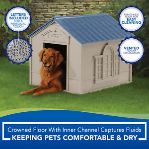 Deluxe XXL Dog Kennel Medium, Large Dogs Outdoor Shelter Durable Pet Cabin House