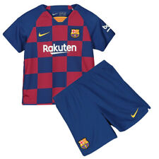 19/20 Barcelona Football Soccer Kit Kids Boys Jersey Strip Sports Outfit