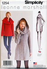 SIMPLICITY SEWING PATTERN 1254 MISSES SZ 4-12 EASY LINED COAT & JACKET W/ COLLAR