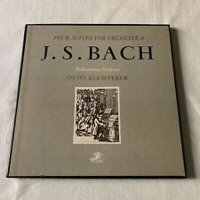 J.S. BACH - 4 SUITES FOR ORCHESTRA - Philarmonia Klemperer - box 2 LP + Sheet